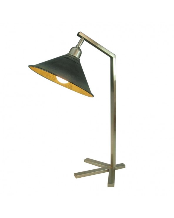 Lámpara mesa plata negro...