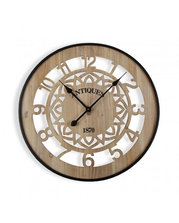 Reloj pared madera 60x4.5x60