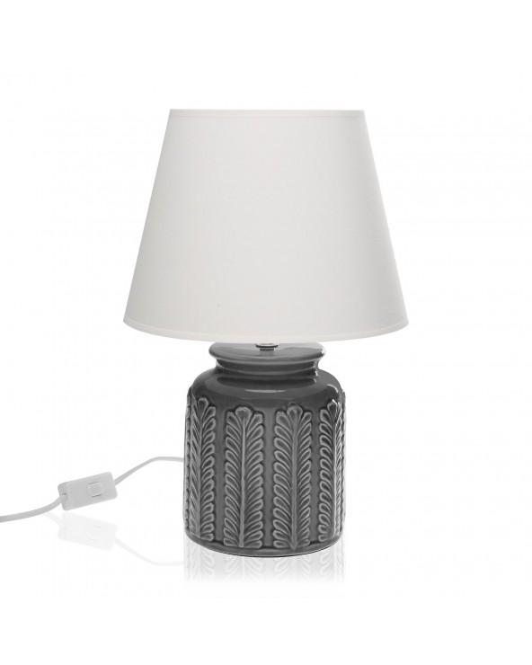 Lámpara de mesa hojas gris...