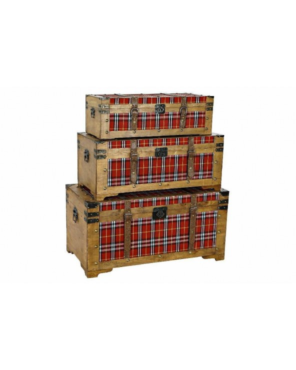 Set 3 baúles Deniska madera...