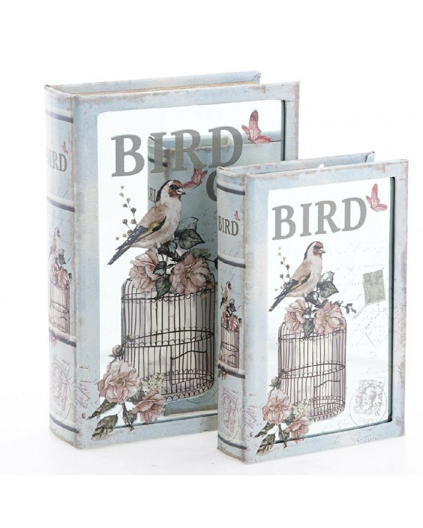 Set 2 cajas libro modelo 25...