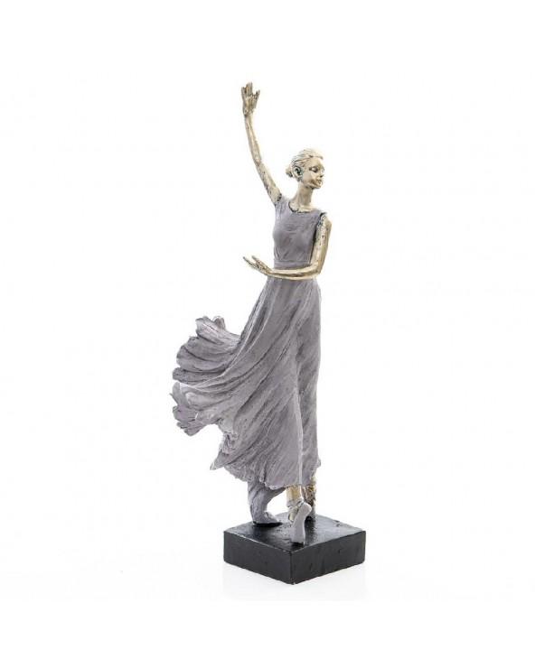 Bailarina resina plateada...