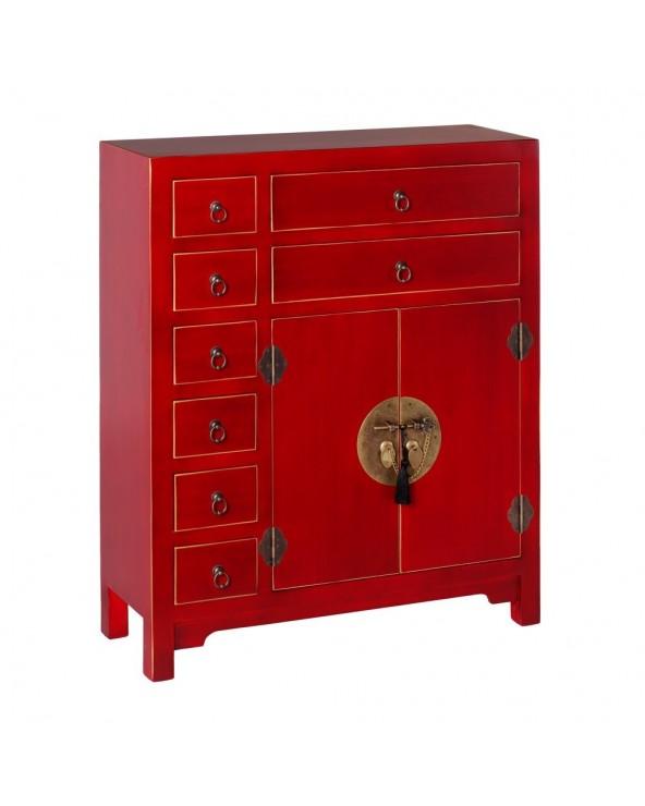 Mueble auxiliar Japan rojo...
