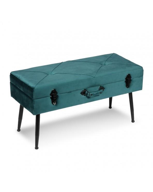 Pie de cama azul turquesa...