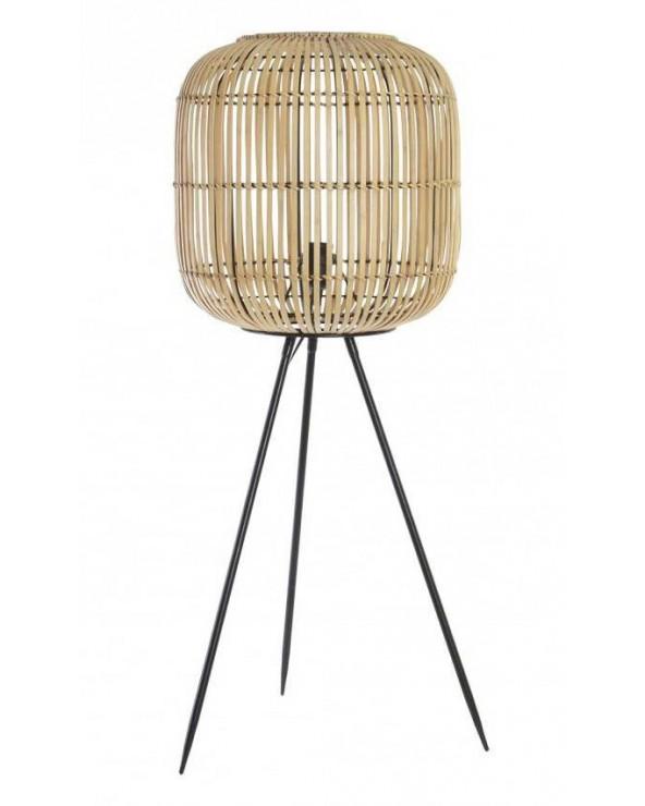 Lámpara trípode Zafra bambú...