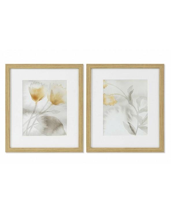 Set 2 cuadros Leira flores...