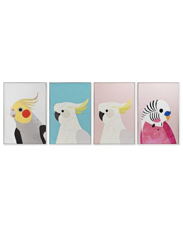 Set 4 cuadros Barea pájaros...