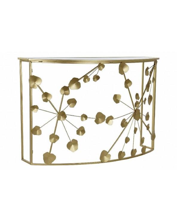 Consola Sander metal dorado...