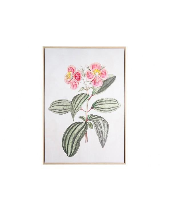 Cuadro dibujo flores lienzo...
