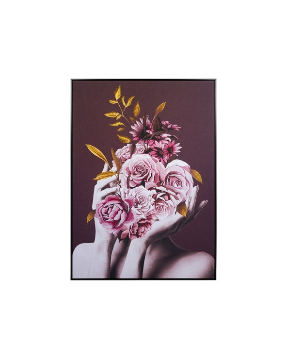Cuadro ramo rosas lienzo...