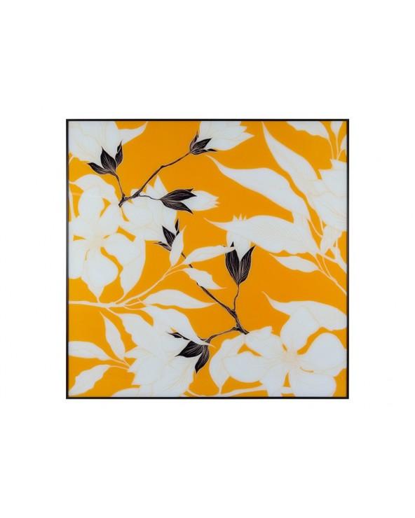 Cuadro flores naranja...