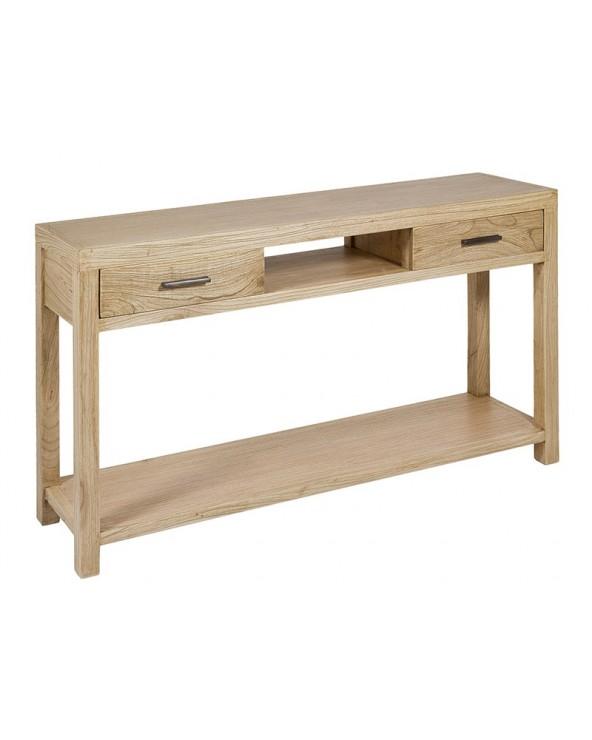 Consola recta clara madera...