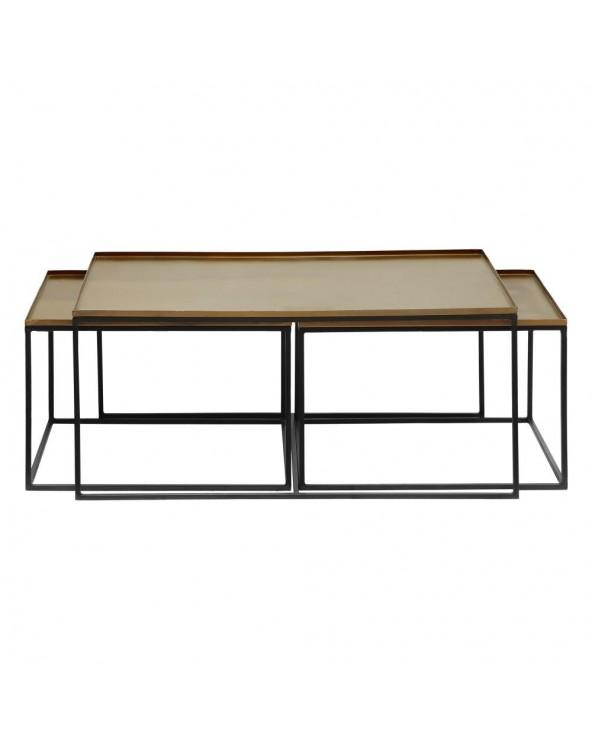 Set 2 mesas centro negro...