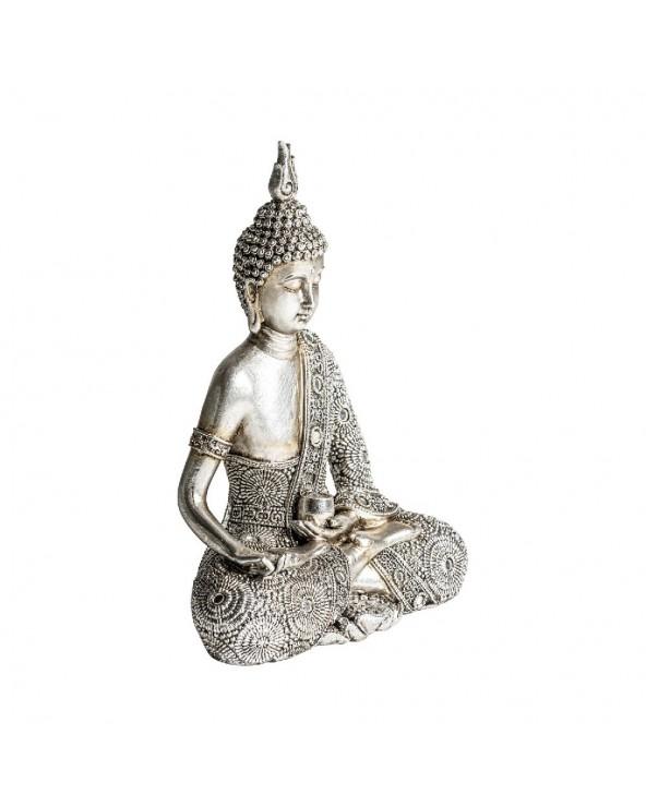 Figura Budha pequeña plata...