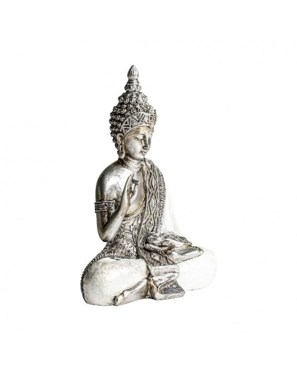 Figura Budha mediana plata...