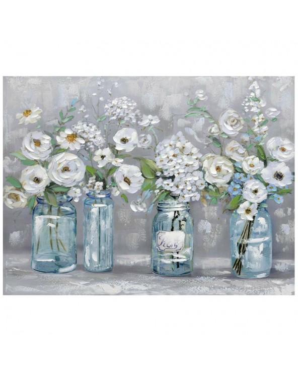 Pintura Flores en vidrio...